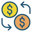 business growth, coins, money, profit icon icon