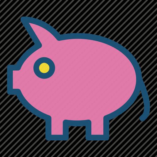 icons, money, money box, pig icon icon