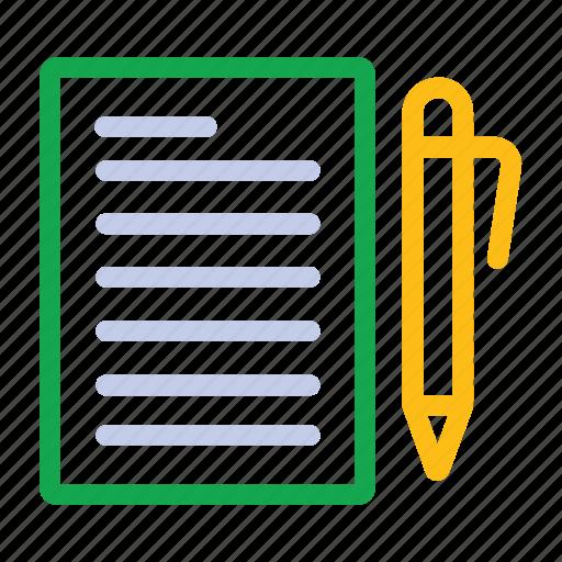 documents, paper, pen icon icon