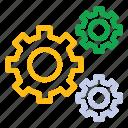 bussiness, gear, mechanism, money, money settings, settings icon