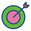business, dart, goal, office, seo, target icon icon