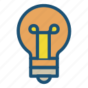 bulb, idea, light icon icon