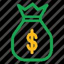 money, money bag, sack icon icon