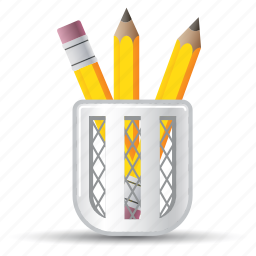 education, school supplies, stationery icon