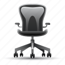 chair, office, workplace icon