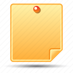 memo, post-it notes, reminder, sticky note icon