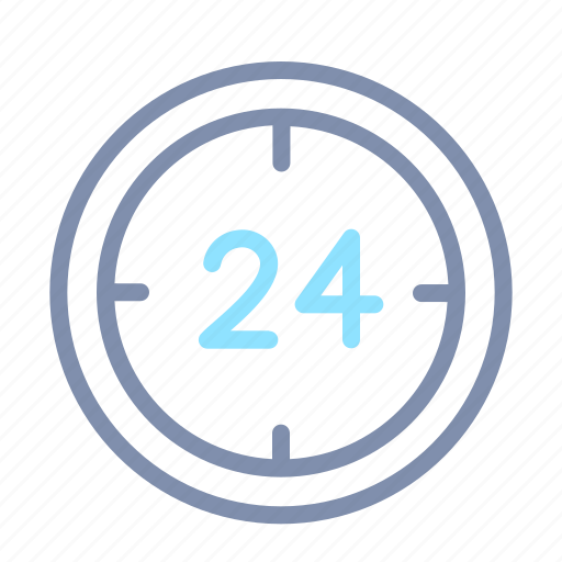 24 hours, business, customer, hours, office, service, support icon