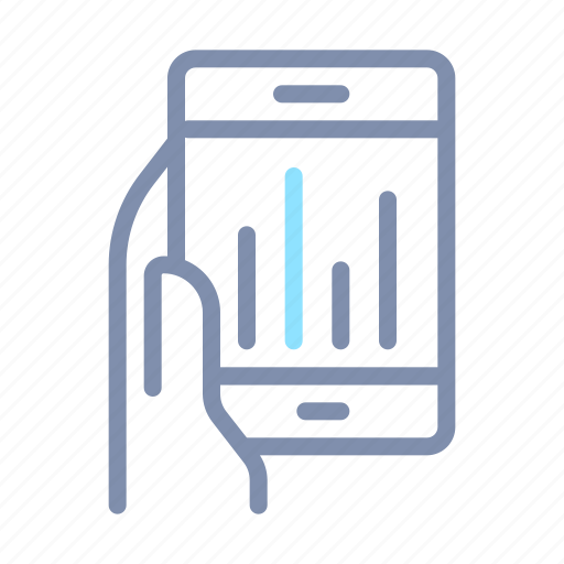 business, chart, finance, graph, mobile, office, phone icon