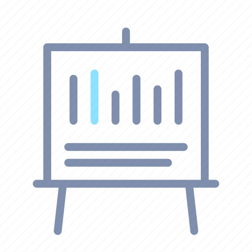 business, growth, office, presentation, report, statistic, whiteboard icon