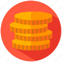 coins, earnings icon