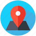 business, location, map, pin icon
