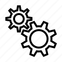gear, industrial, setting icon