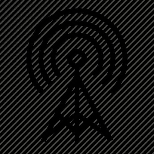 antena, radio, satellite, technology, transmitter, wireless icon
