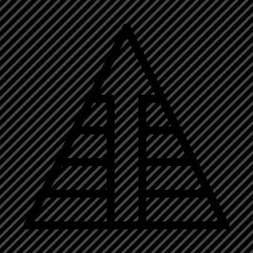 arrow, pyramid icon