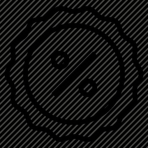 badge, percent icon