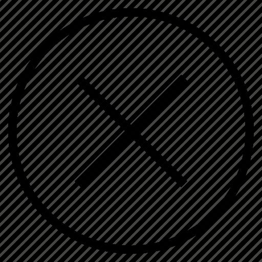 cancel, check, cross, delete, mark, remove, sign icon