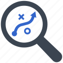 finding, planning, searching, strategy, tactics icon