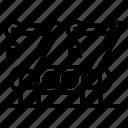 conveyer belt, industrial machine, manufacturing machine, production conveyor, production machine icon