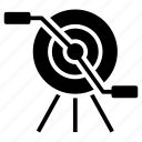 archery, business target, dartboard game, goal achievement, target icon