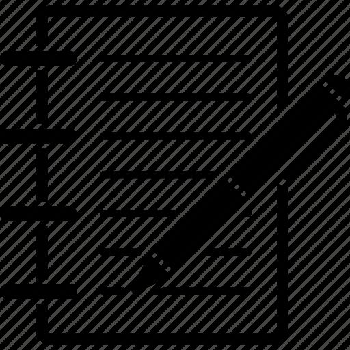 document, edit notes, modify records, note, pen, pencil, write icon