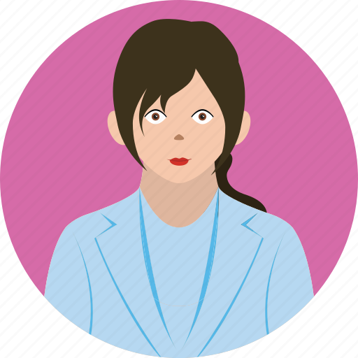 avatar, business, girl, people, user icon