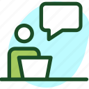 chat, communication, conversation, man, person, talk, user icon icon