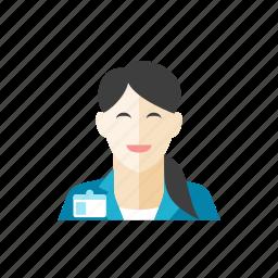 1, businesswoman icon