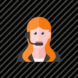 telemarketer, woman icon