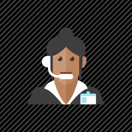 3, telemarketer, woman icon