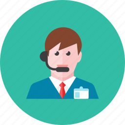 man, telemarketer icon