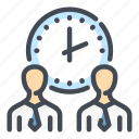 clock, management, person, staff, time, watch, work icon