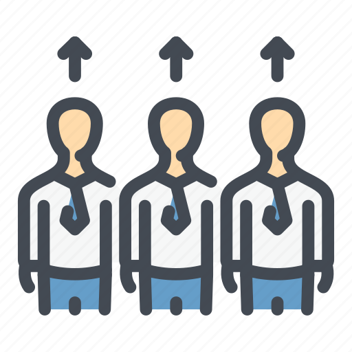 Employee, group, level, people, skill, team, up icon - Download on Iconfinder