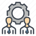 business, gear, management, people, settings, team, teamwork icon