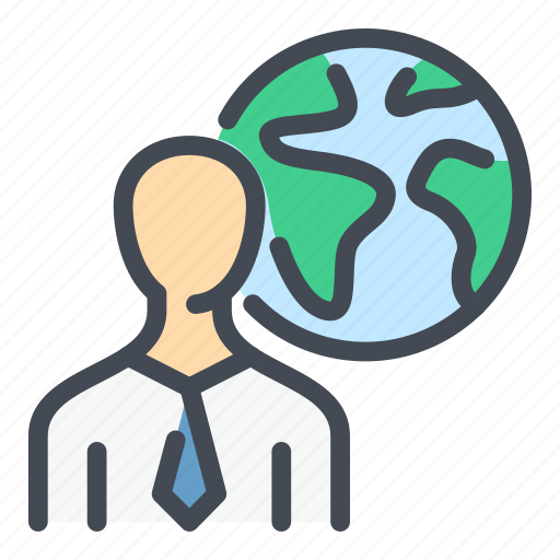 Business, earth, globe, man, person, planet, profile icon - Download on Iconfinder
