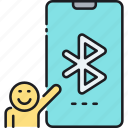 bluetooth, bluetooth exchange, bluetooth transfer, transfer icon
