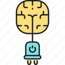 brain, brain power, power icon
