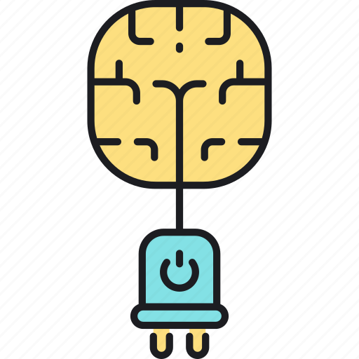brain, brain power, power icon