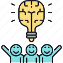 brain, brainstorm, brainstorming, idea icon