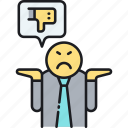 bad, complain, complaint, feedback, review icon
