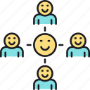 connections, group, networking, social network, team icon