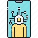 digital, digital man, man, mobile app icon