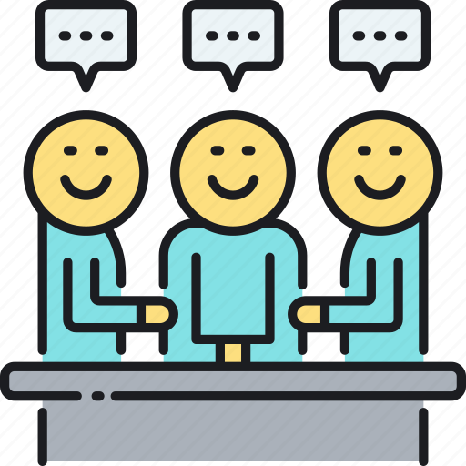 discussion, internal, internal meeting, meeting icon