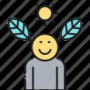 activist, go green, naturalist, nature lover icon