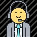 agent, call center, customer service, operator, representative icon