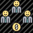 crowdfunding, fund, funding, p2p lending, revolving, revolving fund icon
