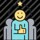 customer satisfaction, team, teammates icon