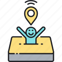 gps, location, navigation, user, user location icon