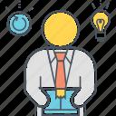 business idea, idea, innovation, inspiration, inspired icon