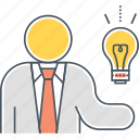 idea, innovation, innovative, innovative thinking, light bulb icon