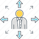 career growth, employee growth, expansion, growth, individual growth, personal growth icon